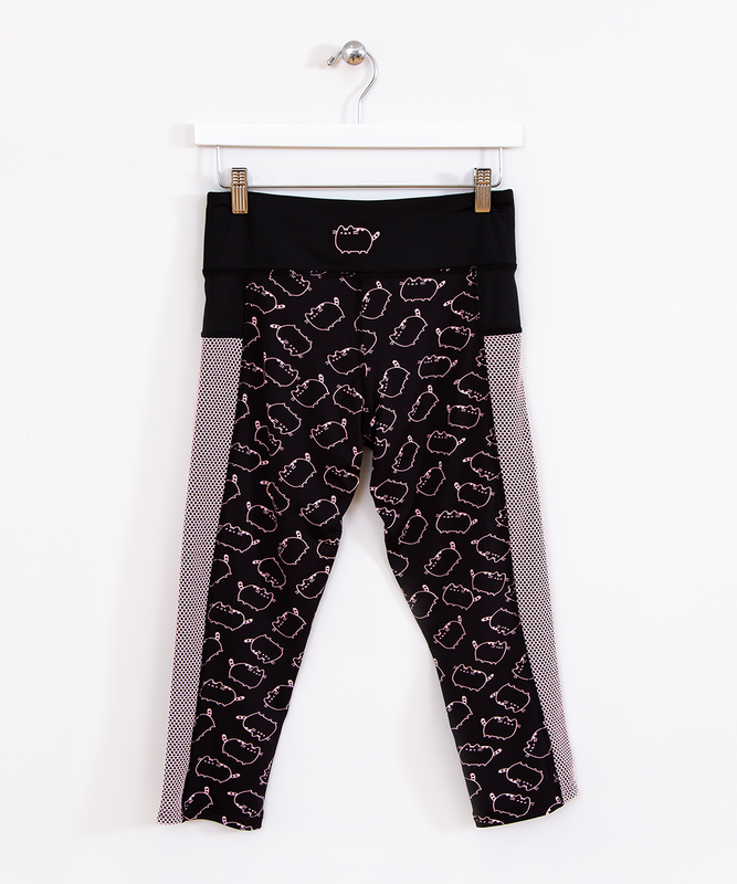 Pusheen Ladies Cropped Active Leggings