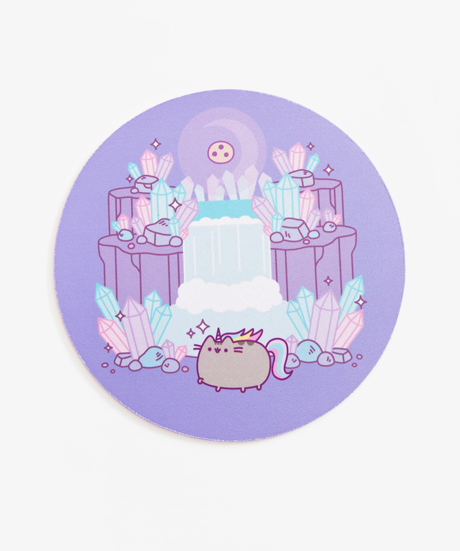 Pusheenicorn Crystal Caverns Mouse Pad