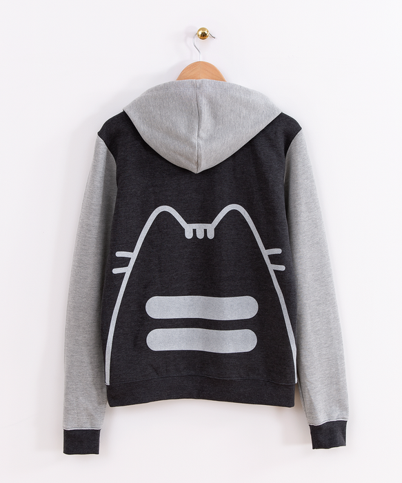 Pusheen Silhouette Unisex Fitted Hoodie