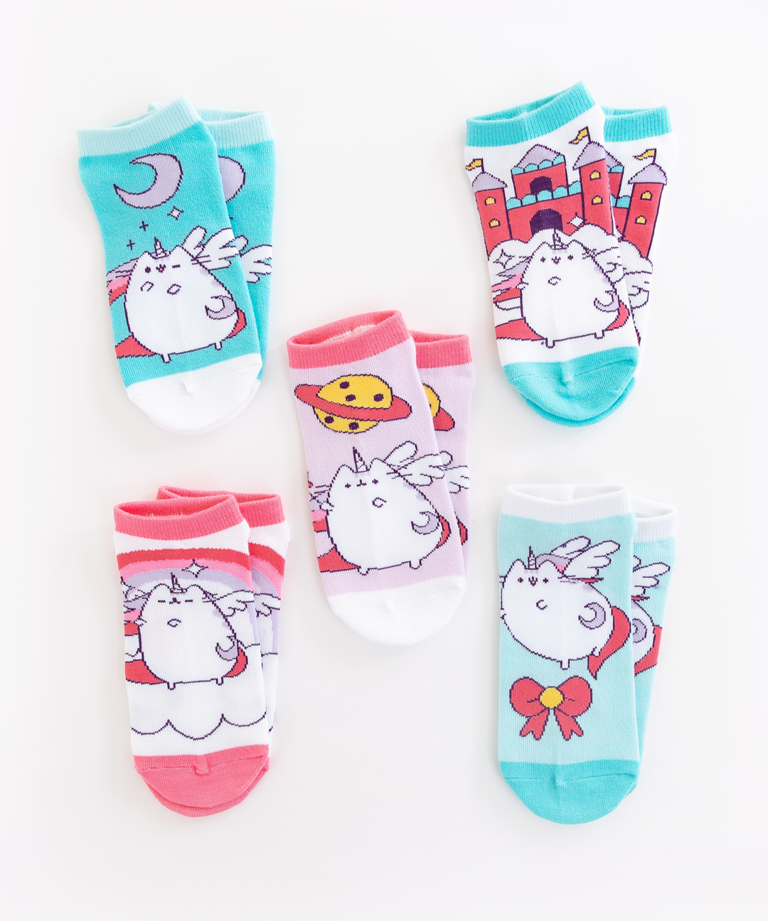 Super Pusheenicorn 5-Pack Ankle Socks