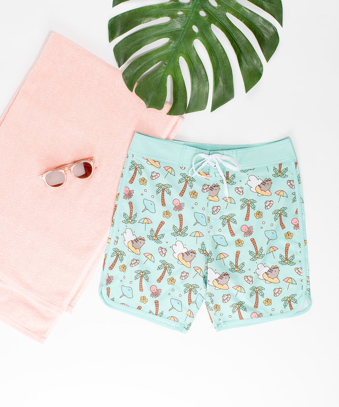 Surfing Pusheen Unisex Boardshorts