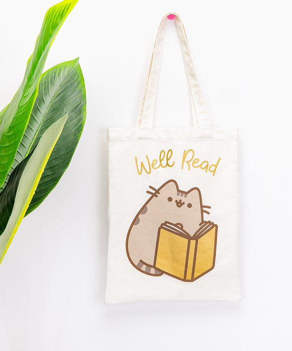 """Well Read"" Gold Foil Tote Bag"