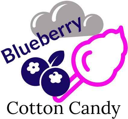 Blueberry Cotton Candy, Premium Quality Canadian Vape Juice - VapeCloudz.ca