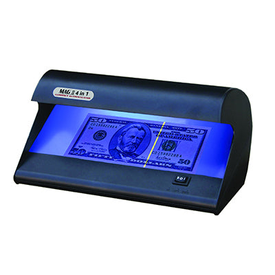Magner 4 in 1 Counterfeit Detector for banks from srs systems inc