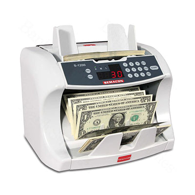 Semacon S-1200 Series Currency Counters for banks from srs systems inc