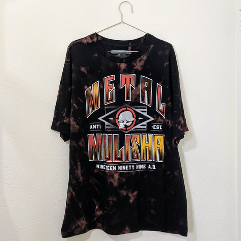 Upcycled Metal Mulisha Acid Wash Tee (Size: XL)