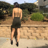 The Sparkle Dress - Black/Gold (Dresses 40% Off)