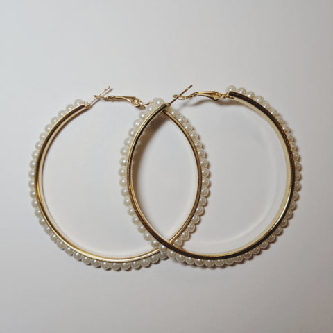 Accessories - Pearly Hoopy Earring