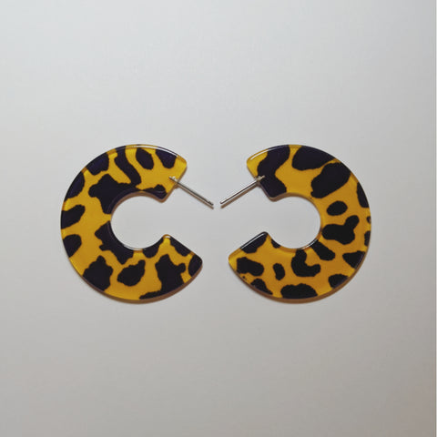 Accessories - Cheetah Print Earrings