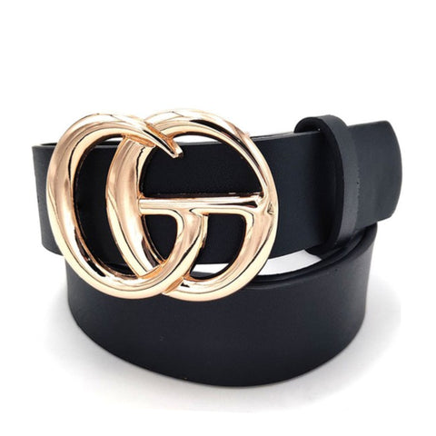 Accessories - Faux Leather Double Metal Ring Belt