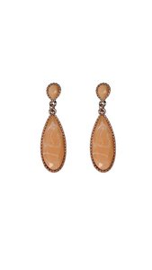Papaya Oval Dangle Earring