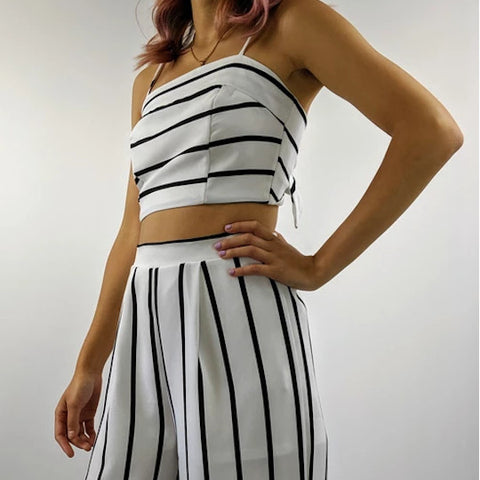 The Flow Stripe Crop Top