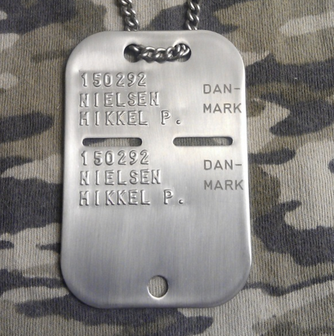 Denmark military dog tag