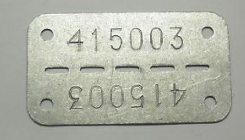 Finland military dog tag