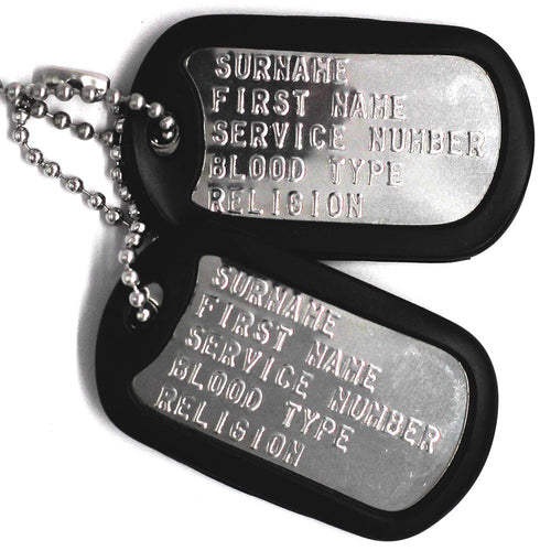 Stainless Steel Milspec™ Shiny Dog Tags