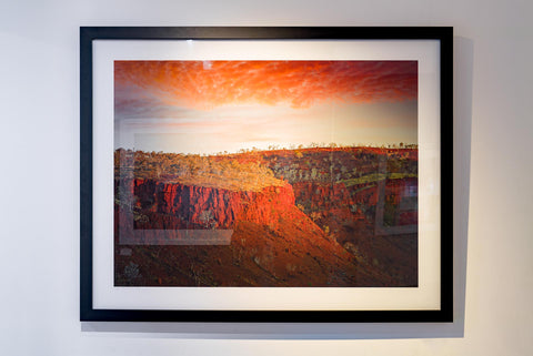 Black frame, North Western Australia outback sunset photography landscape