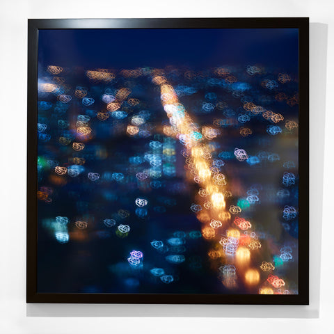 Black frame Cuba city lights Havanna abstract photography Christian Fletcher au