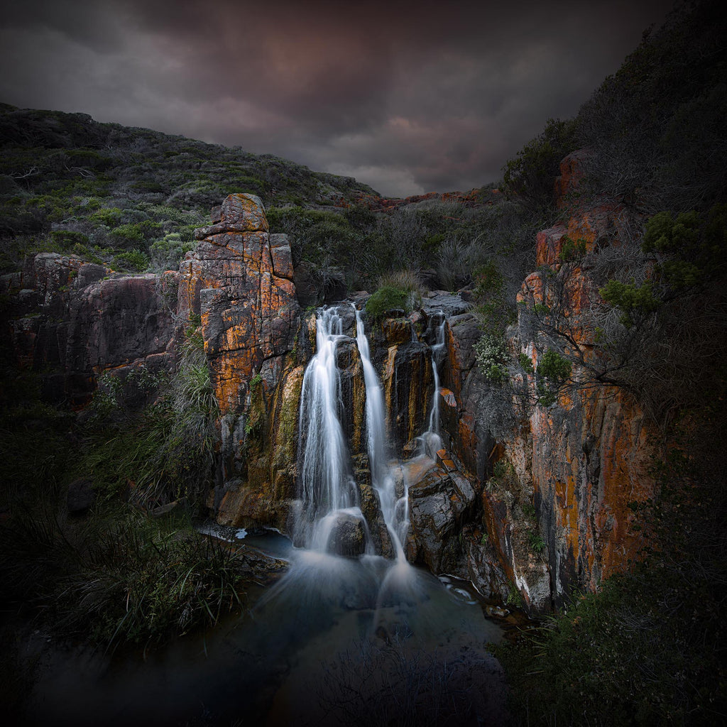 Quinninup Falls, Margaret River, Moses Rock, South Western Australia.  Photography waterfall.
