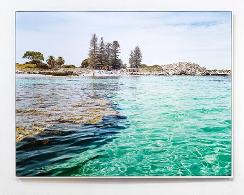 Rottnest Island The Basin, reef blue ocean Western Australia Indian Ocean pine trees