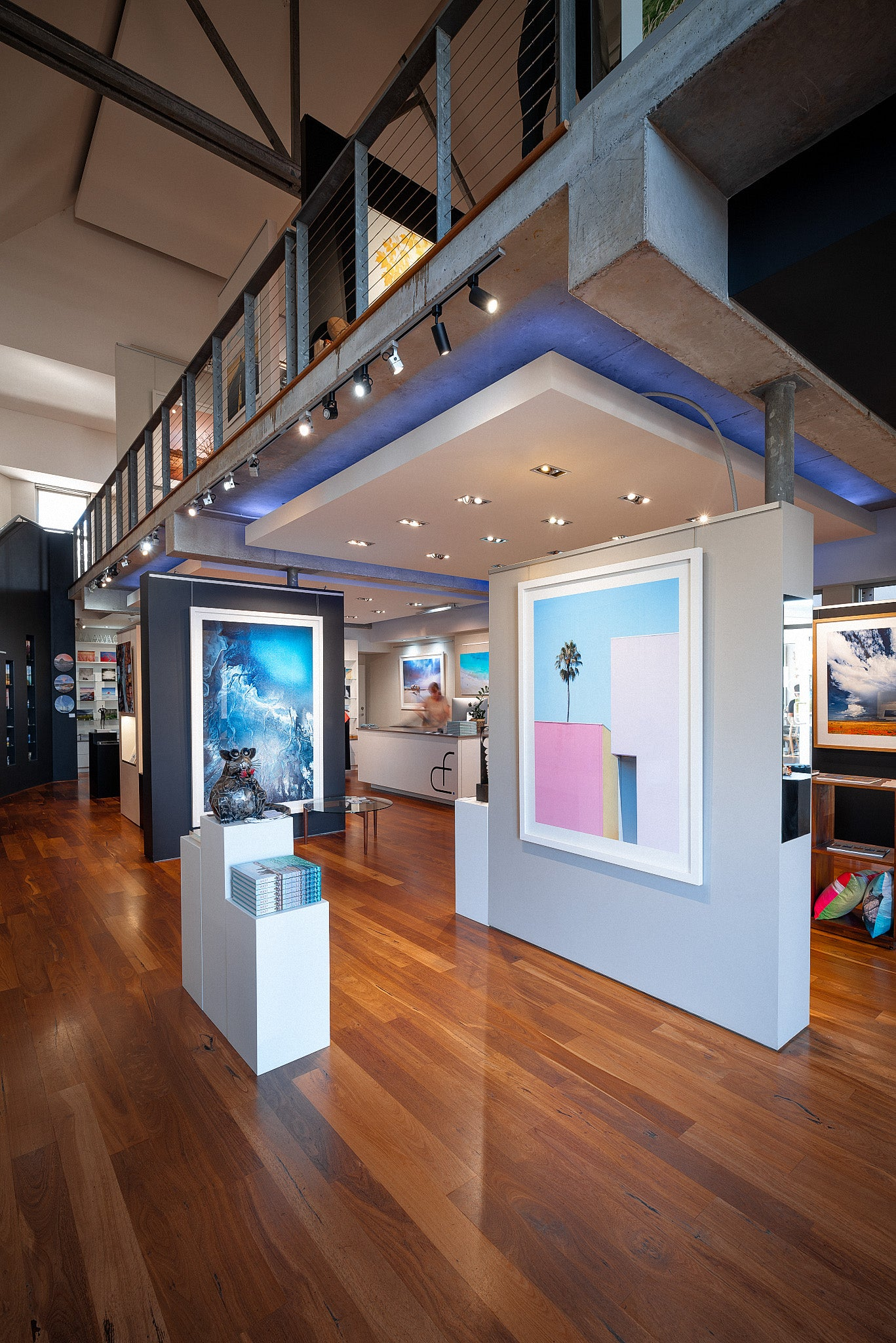Interior view of photographic gallery in Dunsborough, Western Australia, by renowned photographer, Christian Fletcher