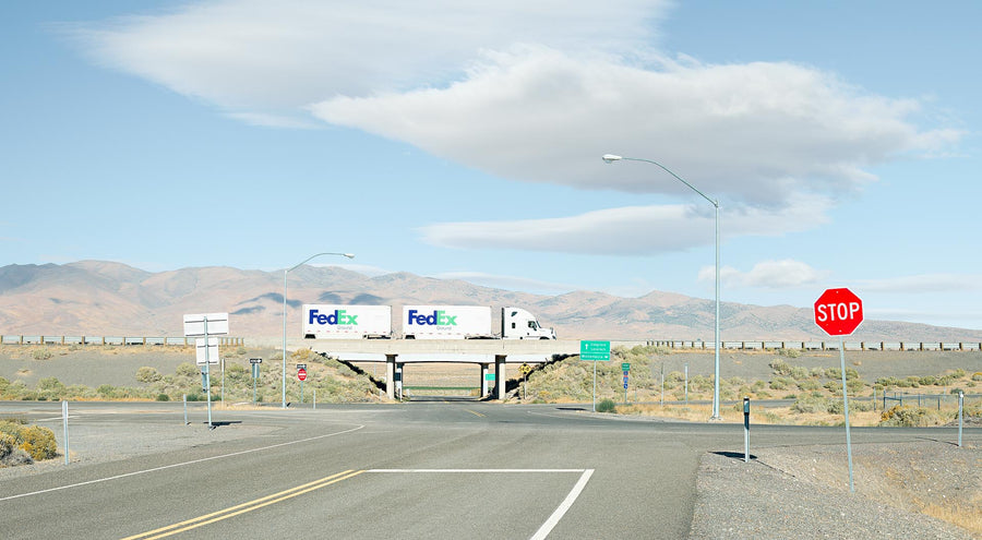 Fedex Truck, Nevada, USA, LTD | Christian Fletcher Photo Images | Landscape Photography Australia