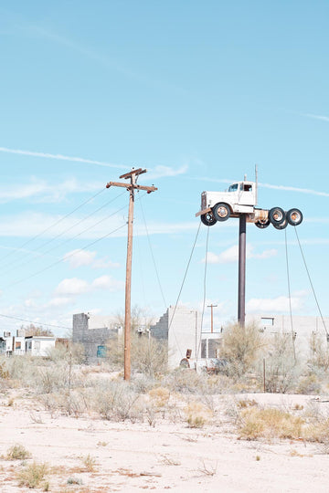 Truck on a stick, California, USA  LTD | Christian Fletcher Photo Images | Landscape Photography Australia