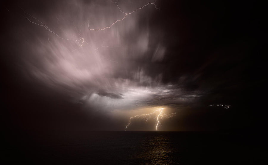 Lightning, Cape Naturaliste, Western Australia | Christian Fletcher Photo Images | Landscape Photography Australia