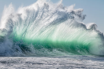 A huge wave at Prevelly in the Margaret River region, Western Australia.  The swell and surf of the Indian Ocean is beautiful and wild.