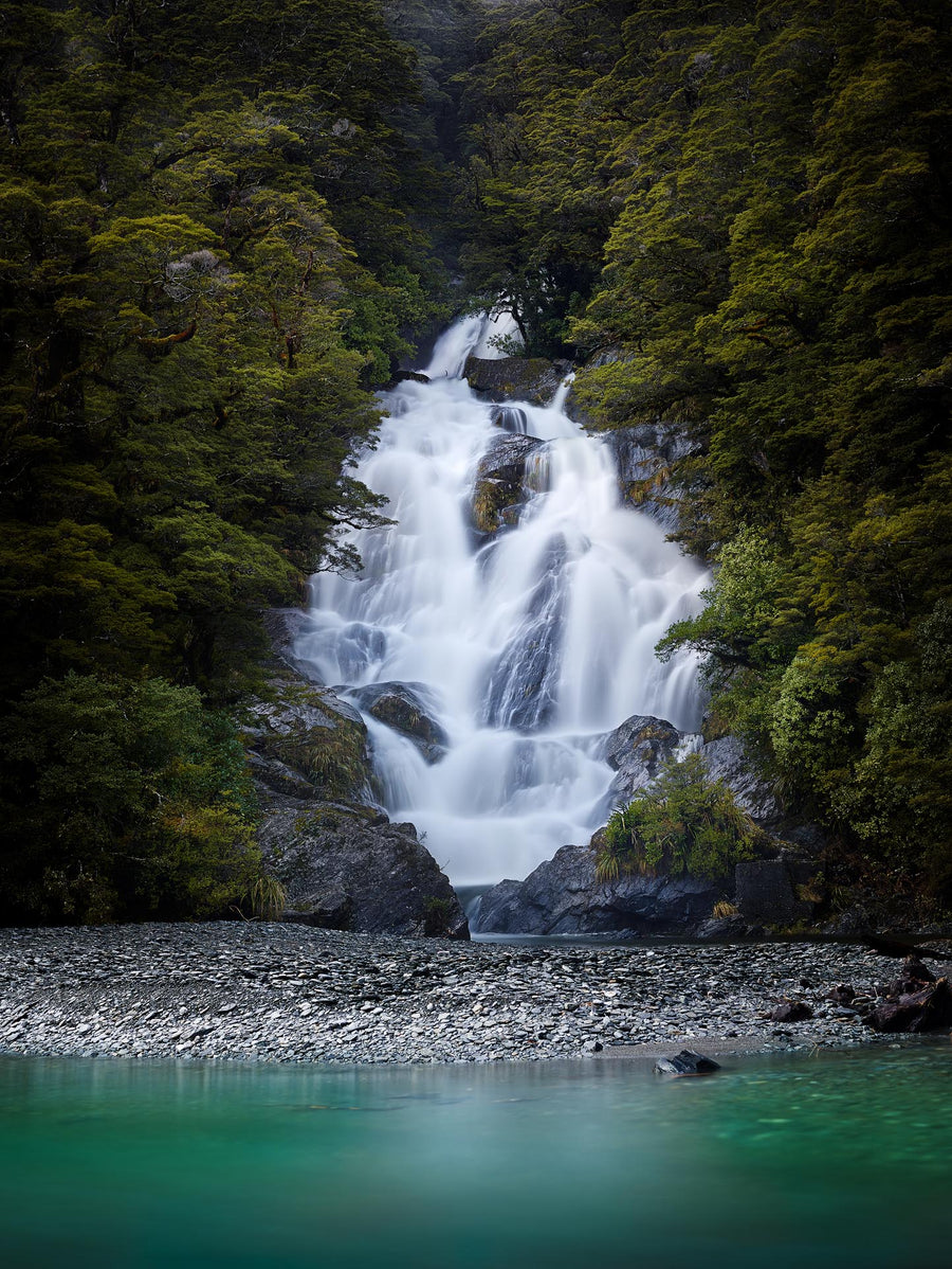 Fantail Falls, Haast Pass, New Zealand | Christian Fletcher Photo Images | Landscape Photography Australia