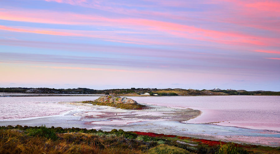 Pink Salt Lake, Rottnest Island, Western Australia | Christian Fletcher Photo Images | Landscape Photography Australia