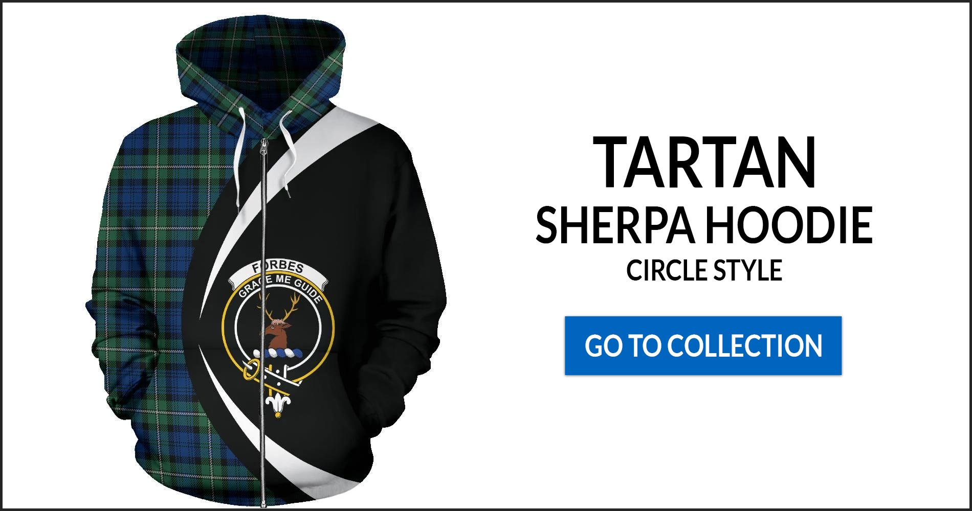 Tartan Zip Up Hoodies Circle Style