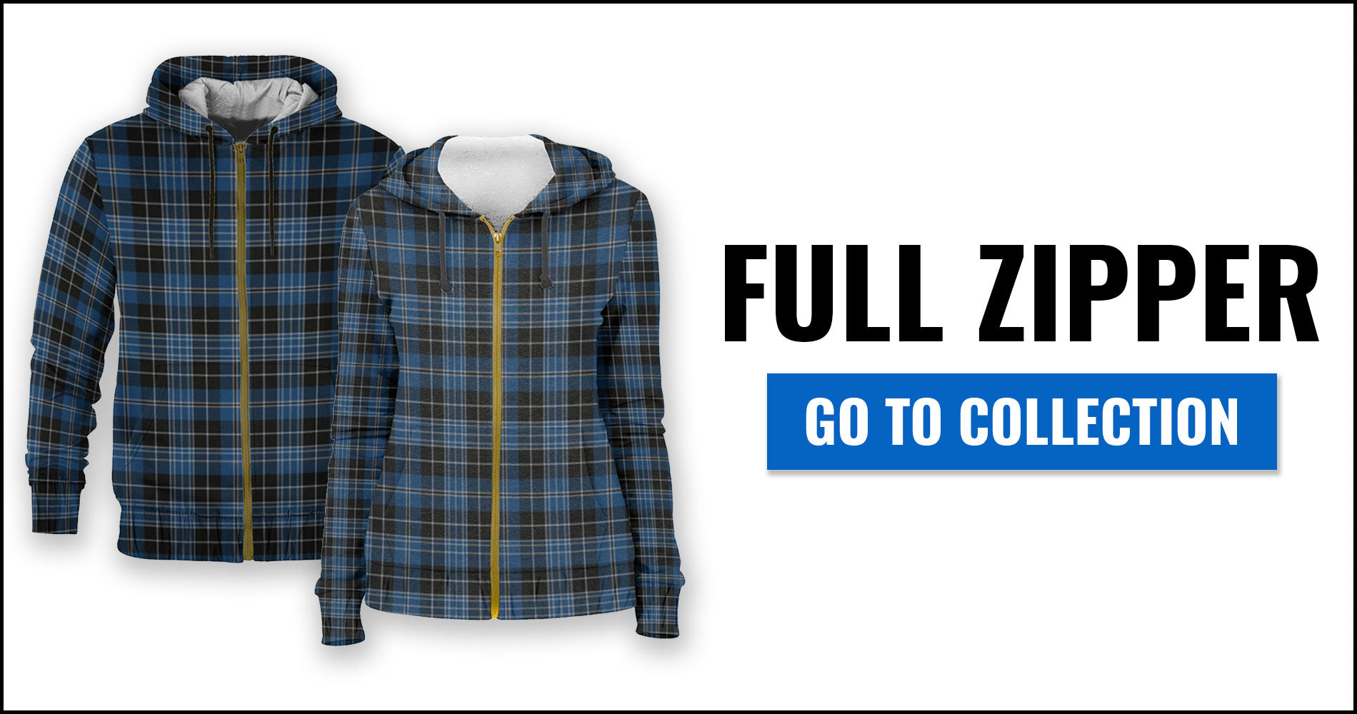 Tartan Hoodies - Full Zipper