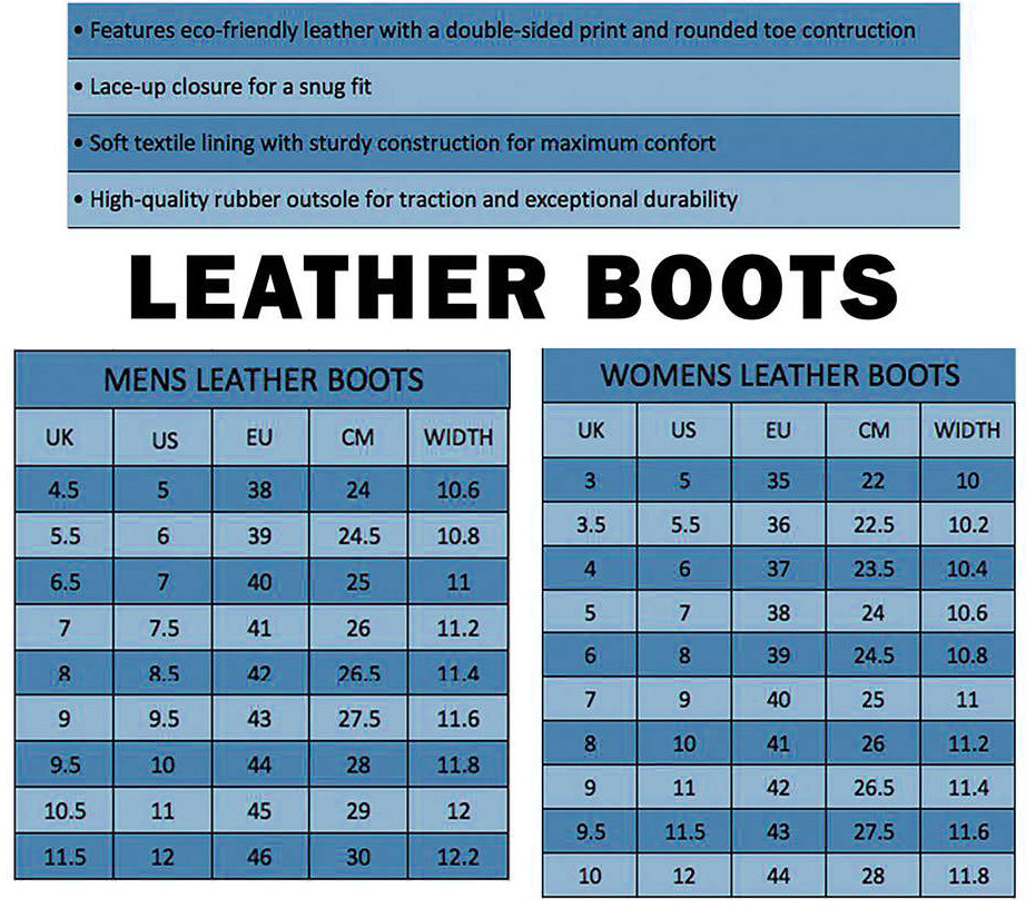 Tartan Leather Boots Product Details and Sizing