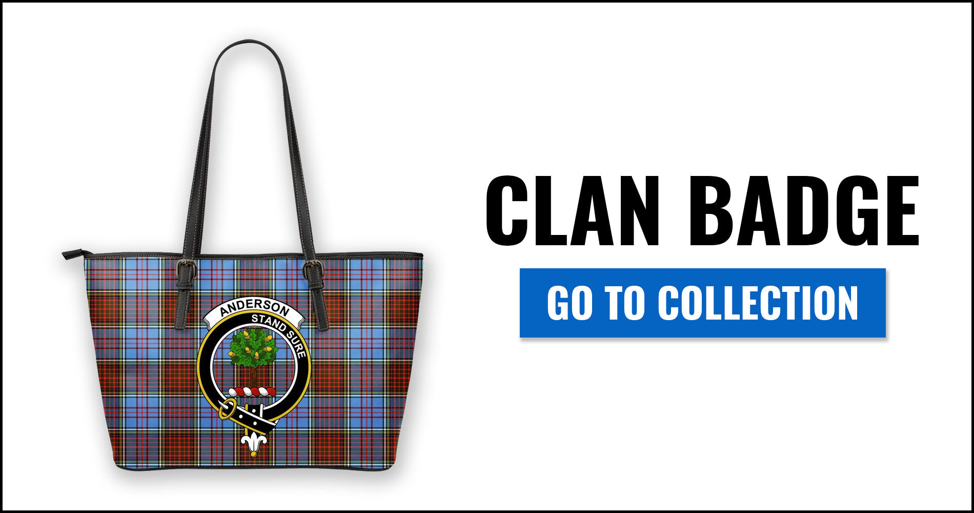 Clan Badge Tartan Leather Tote Bags