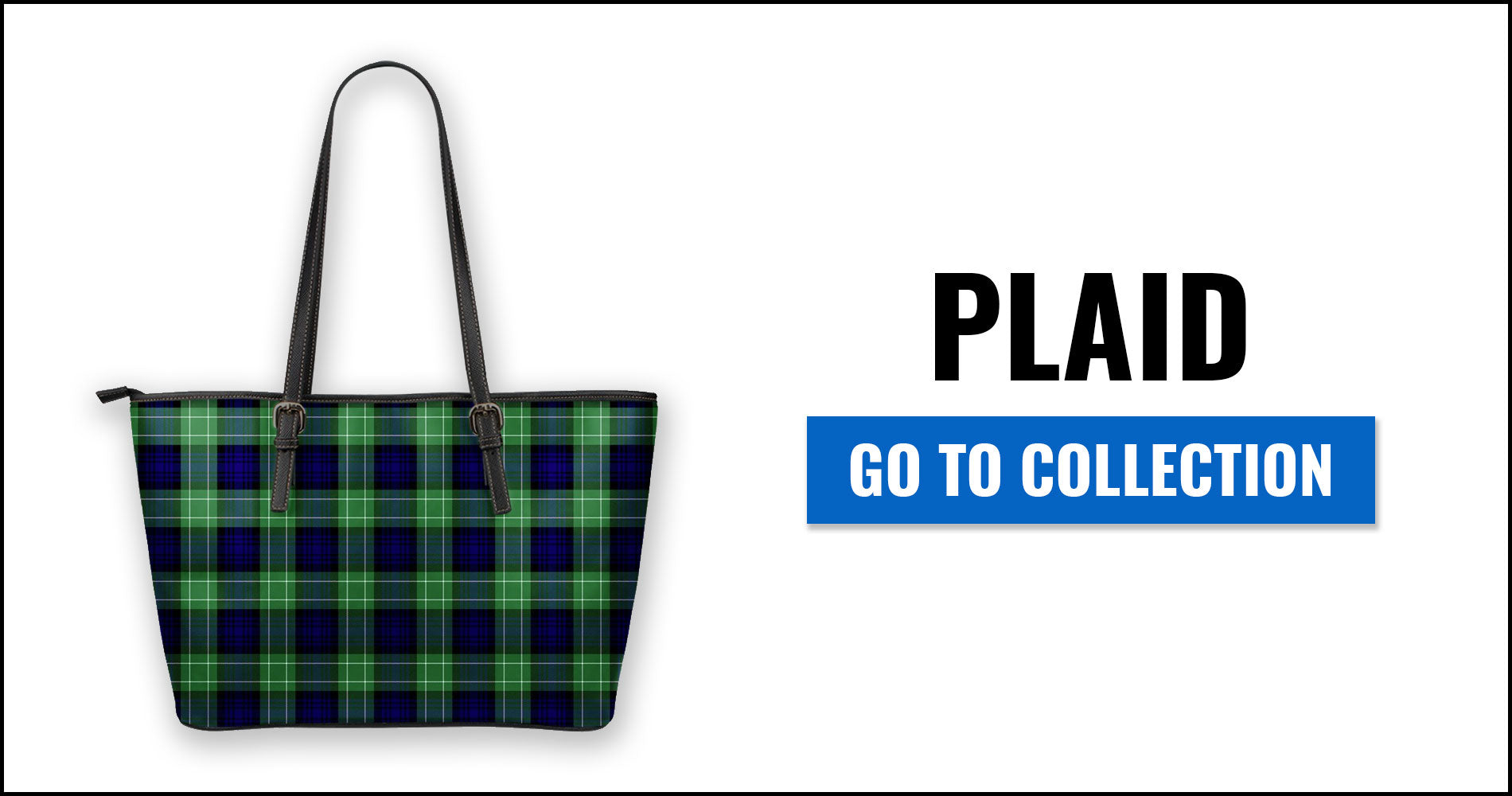 Plaid Tartan Leather Tote Bags