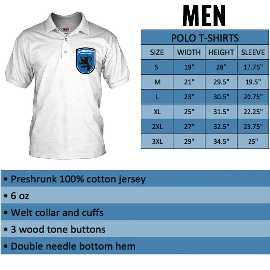 Tartan Polo T-shirt for Men - Product Details and Sizing