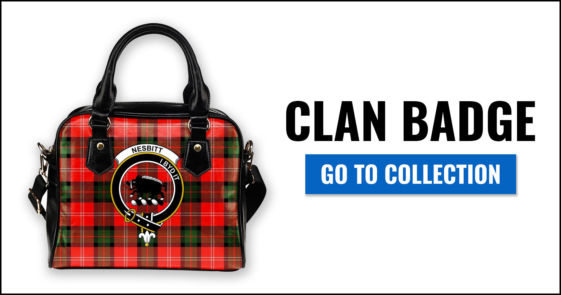 Clan Badge Tartan Shoulder Handbags