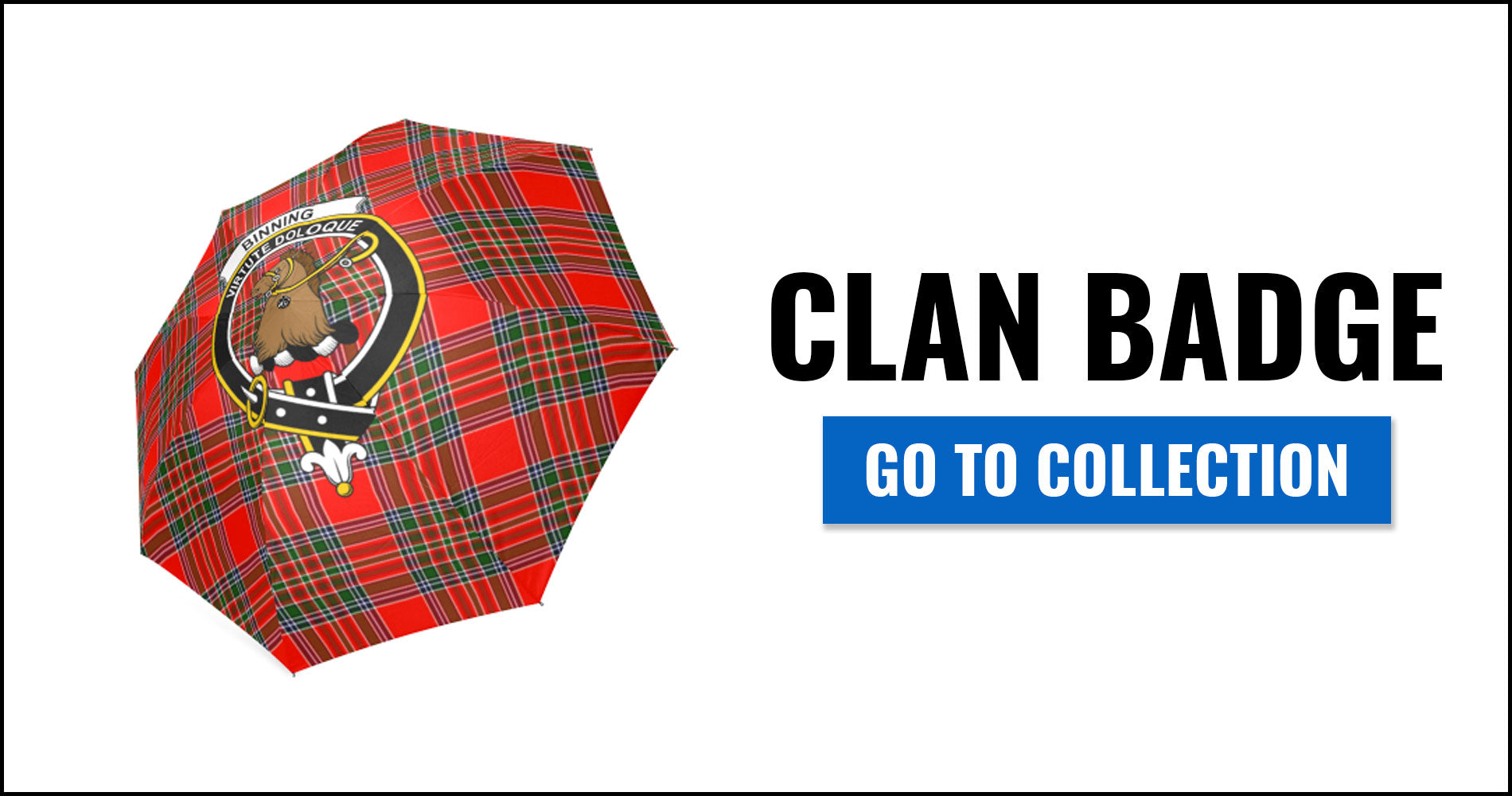 Clan Badge Tartan Umbrellas