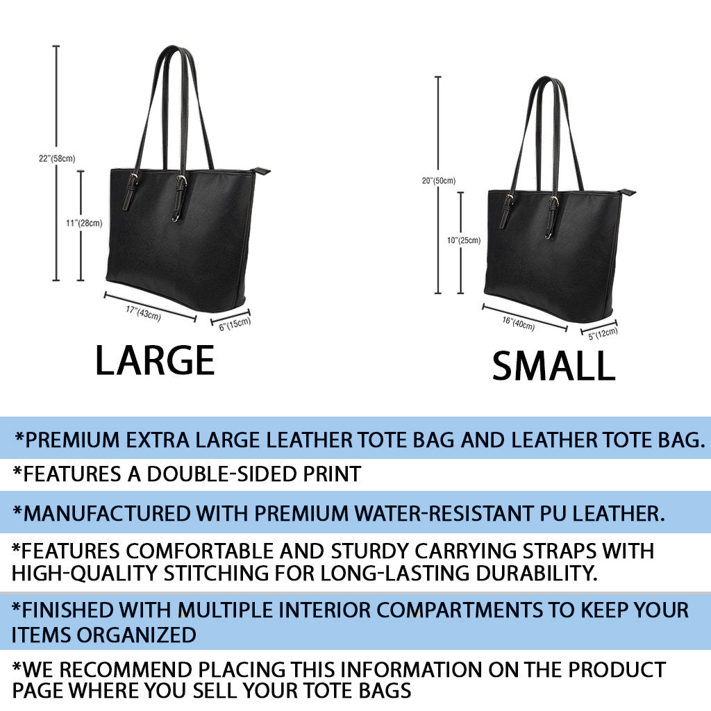 Tartan Leather Tote Bags Product Details and Sizing