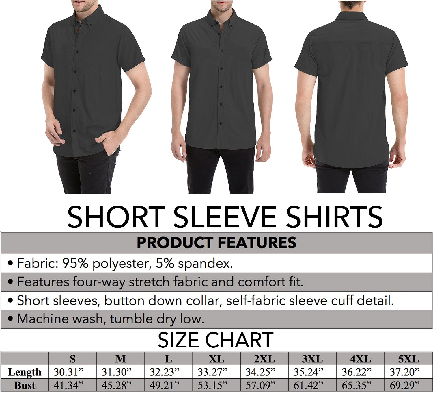 Tartan Short Sleeve Shirts Product Details and Sizing