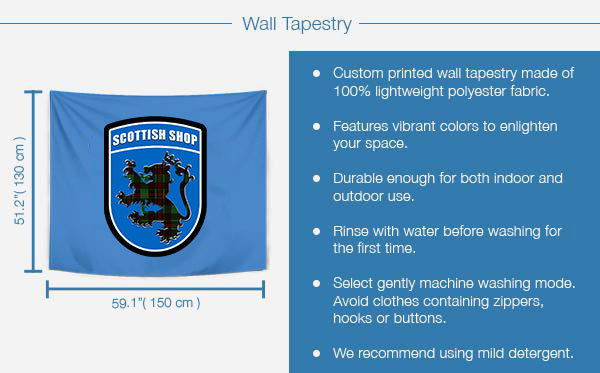 Tartan Tapestries Product Details and Sizing