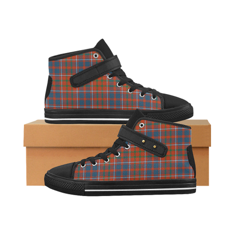 Cameron Of Lochiel Ancient Tartan Shoes - Aquila Strap Shoes