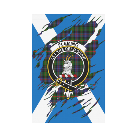 Garden Flag | Tartan Fleming Lives In Me Flag | 2 Sizes