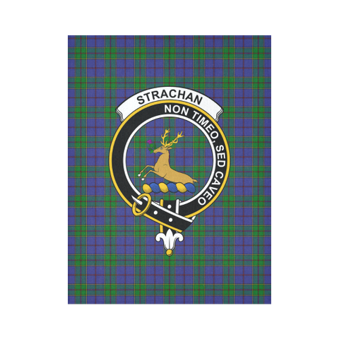 Image of Strachan Tartan Clan Crest Tapestry