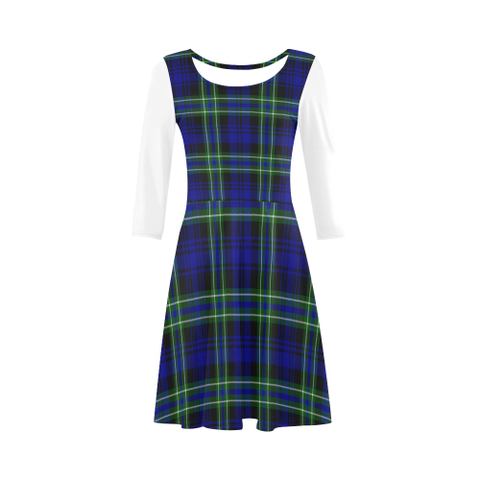 Image of Arbuthnot Modern Tartan 3/4 Sleeve Sundress | Exclusive Over 500 Clans