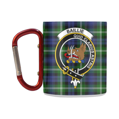 ScottishShop Insulated Mug - Baillie Modern Tartan Insulated Mug - Clan Badge
