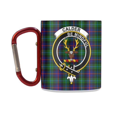 ScottishShop Insulated Mug - Calder Modern Tartan Insulated Mug - Clan Badge