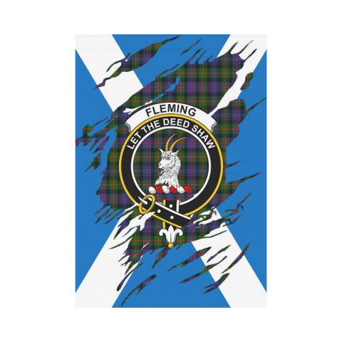 ScottishShop Garden Flag - Tartan Fleming Lives In Me Flag
