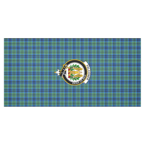 Tartan Tablecloth - Falconer Tablecloth with Crest | Tartan Plaid Table  Linen