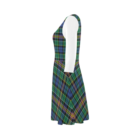 Image of Allison Tartan 3/4 Sleeve Sundress | Exclusive Over 500 Clans